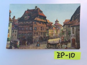 Old Fashion Old Beautiful Horse Carriage Town Vintage Postcard ZP-10