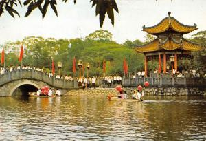 Kwangchow China, People's Republic of China Festive scene in the Memorial Gar...