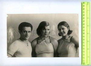 230367 USSR LENINGRAD Circus Ciniselli acrobats 1920-years