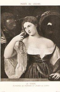 Tiziano. Alphonse de Ferrare et Laura de Diante Fine painting, vintage French