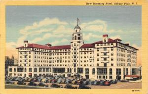 Asbury Park New Jersey~New Monterey Hotel~Lots of Cars in Parking Lot~1940s PC