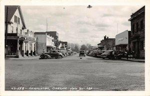 LPS88 Hermiston Oregon Town Store Front View Hotel Drug Store Postcard RPPC