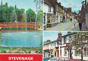 England Stevenage Middle Row and The White Hart Old Town & Town Centre Gardens