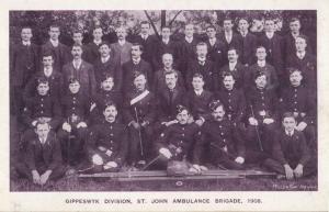 Gippeswyck Ipswich Suffolk St John Ambulance Fire Brigade 1908 Antique Postcard
