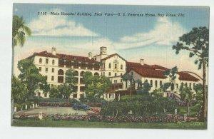 Linen Postcard ~ St Pete Fl ~  Main Hospital ~Bay Pines Veteran Home / Rear View