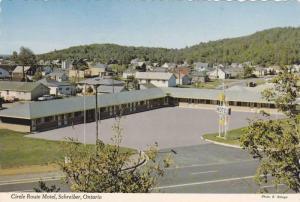 Birdseye View, Exterior of the Circle Route Motel, Schreiber, Ontario, Canada...