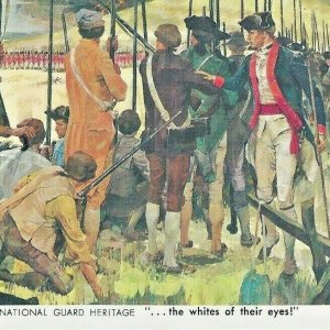 National Guard Heritage White of Their Eyes Militia Bunker Hill 1776 Minutemen