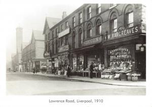 Vintage Reproduction Postcard, 1910 Lawrence Road, Liverpool 25S