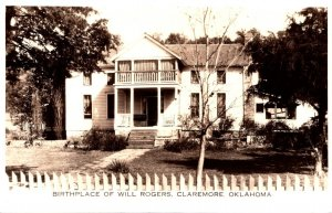 Oklahoma Claremore Birthplace Of Will Rogers Real Photo