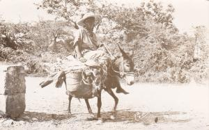 RP: Haiti, PU-1952; Woman riding Donkey