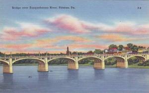Bridge over Susquehanna River, Pittston, Pennsylvania, 30-40s