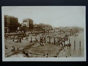 Kent HERNE BAY West Beach c1920's RP Postcard