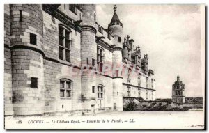Old Postcard Loches Chateau Royal Ensemble of Frontage