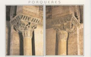 Postal 009191: Capitel de la Iglesia Romanica de Porqueres, Girona