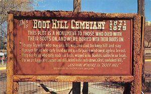 Cemetaries Cemetery Post Card Boot Hill Cemetery Dodge City, Kansas, USA Unused