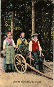 CPA AK Badische Volkstrachten - Schwarzwald - Folklore GERMANY (914805)