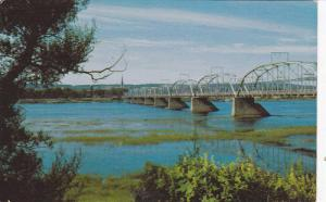 Bridge , St John River , FREDERICTON, New Brunswick , Canada , 50-60s