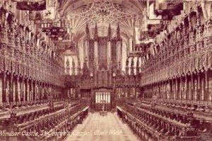 ST. GEORGE'S CHAPEL CHOIR WEST WINDSOR CASTLE ENGLAND