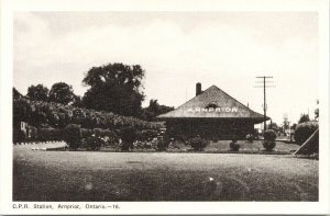 CPR Station Arnprior ON Ontario Railway Train Depot Unused Postcard E79