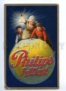 132298 ADVERTISING PHILIPS 1/2 Watt Lamps Vintage postcard