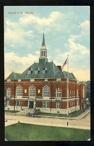 Vintage Concord, New Hampshire/NH Postcard, City Hall, 1911!