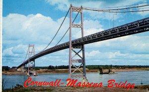 NY - Cornwall-Massena Int'l Bridge, St Lawrence Seaway Ship Channel
