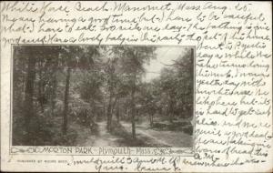Plymouth MA Morton Parkc1905 Postcard