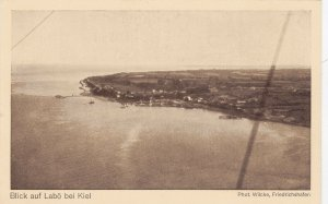 Zeppelin Postcard Germany Aerial View Gustav Eyb - View of Labo near Kiel