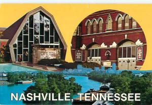 Nashville Tennessee Music City Hall of Fame Grand Ole Opery   Postcard  # 6955