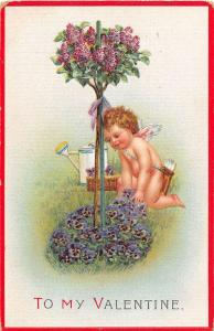 D83/ Valentine's Day Love Holiday 3 Postcards Set c10 Series 408 Flowers Cupid22