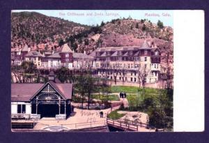 CO Cliffhouse Soda Springs MANITOU COLORADO 1909 PC