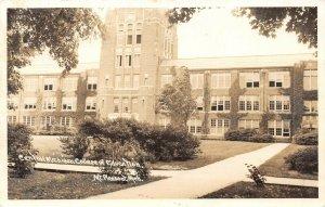 LPM39 Mt. Pleasant Central College   Michigan RPPC Postcard