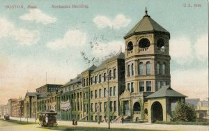 BOSTON, Massachusetts, PU-1907 ; Mechanics Building