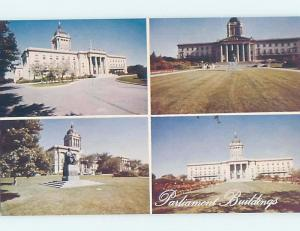Pre-1980 FOUR VIEWS ON ONE POSTCARD Winnipeg Manitoba MB G1827