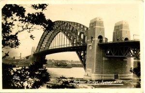 Australia - Sydney, NSW. Harbour Bridge  *RPPC