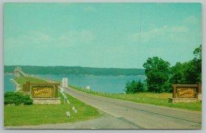 Kentucky~Eggner's Ferry Bridge Over Kentucky Lake~Vintage Postcard