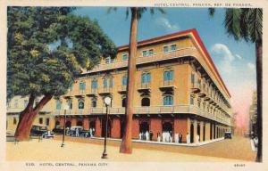 Panama City Panama Hotel Central Street View Antique Postcard K106723