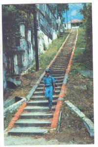 Ninety-Nine Steps A famous street in St. Thomas, Virgin Islands, U.S.A.,   ...
