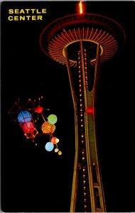 Seattle, Washington Postcard SEATTLE CENTER Monorail / Space Needle c1960s