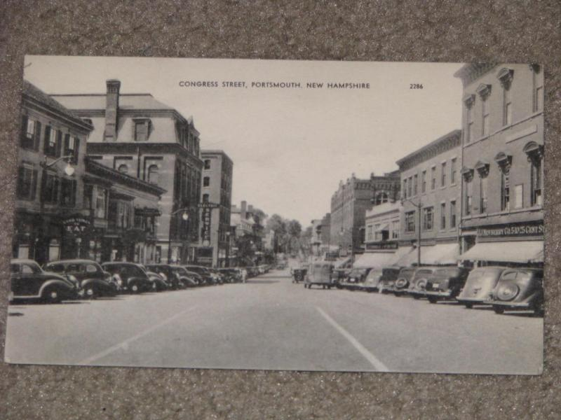 Congress St., Portsmouth, New Hampshire-unused vintage card