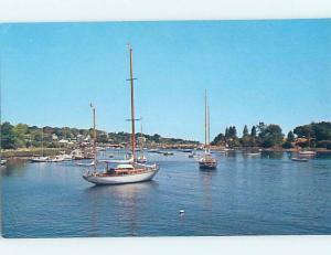 Pre-1980 HARBOR SCENE York Harbor Maine ME hp7551