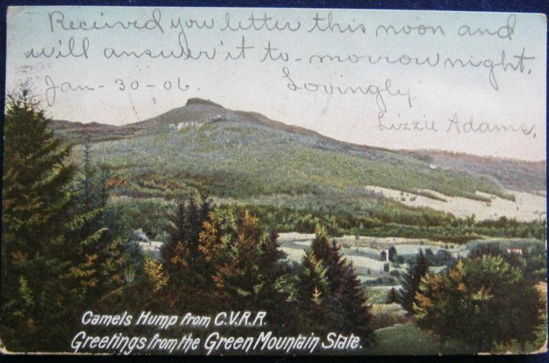 Camels Hump From The CVRR Greetings From The Green Mountain State VT 1906 UDB