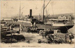 CPA MARSEILLE - Quai de Débarquement (987410)