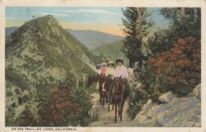 On The Trail,  MT. LOWE, California, PU-1926