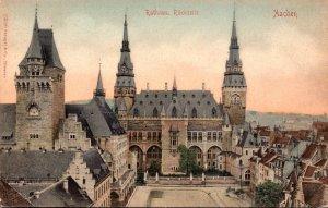 Germany Aachen Rathaus Rueckseite