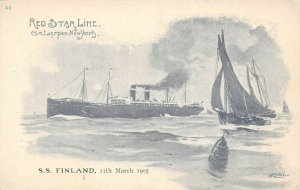 LP30   Ship Red Star Line Cassiers Vintage Postcard S.S. Finland
