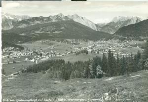 Austria, Blick vom Gscjwandkopf auf Seefeld 1180 m, Tirol