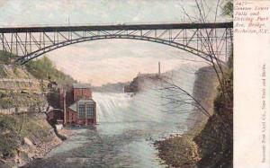 New York Rockester Genesee Lower Falls And Driving Park Avenue Bridge