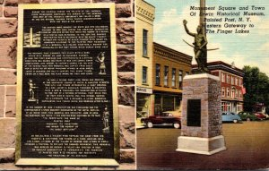 New York Painted Post Monument Square and Town Of Erwin Historical Museum Cur...