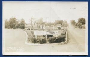 Mt Pleasant Daingerfield Pittsburg Texas street signs real photo postcard RPPC
